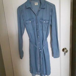 Gap tie-waist denim shirt dress WORN TWICE